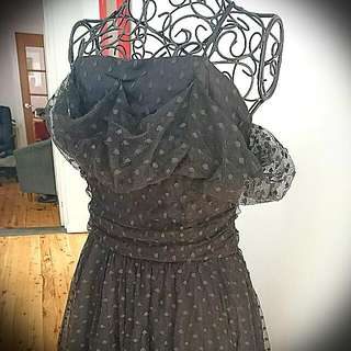 Gorgeous Tulle Genuine Vintage Pin Up Dress Size 10