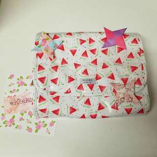 Wicked Sista Makeup Bag Watermelon Pattern