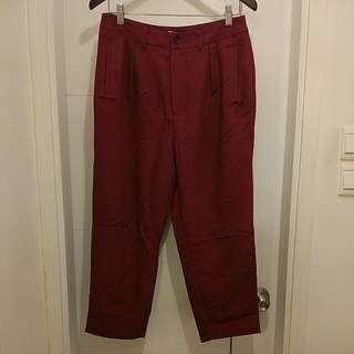 Initial High Waist Red Pants