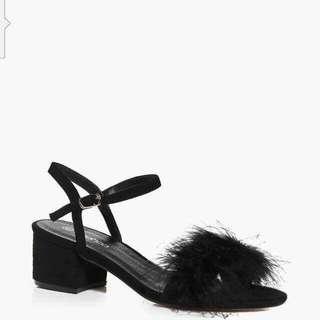 Feather Trim Heels