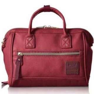 (In Stock) Anello PU Leather Boston Mini 2-way