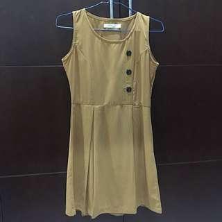 Chic Brownies Orange Dress LM By Luna Maya