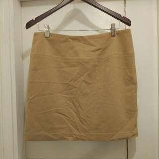 Camel Color Wool Skirt
