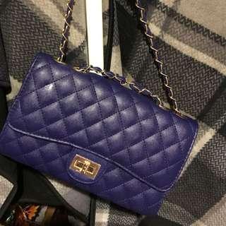 深藍似Chanel格紋包
