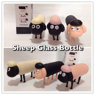 Sheep Glass Water Bottle