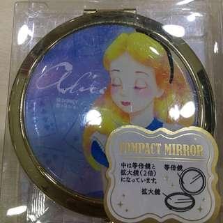 日本迪士尼 愛麗絲化妝鏡/隨身鏡