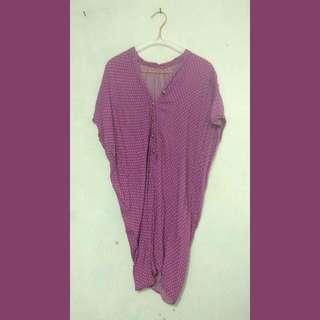 Mini Dress Polka Purple