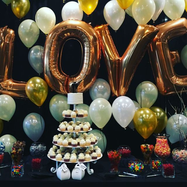 Baby Shower Letter Balloons.40inch Gold Love Letter Balloons Bridal Balloons