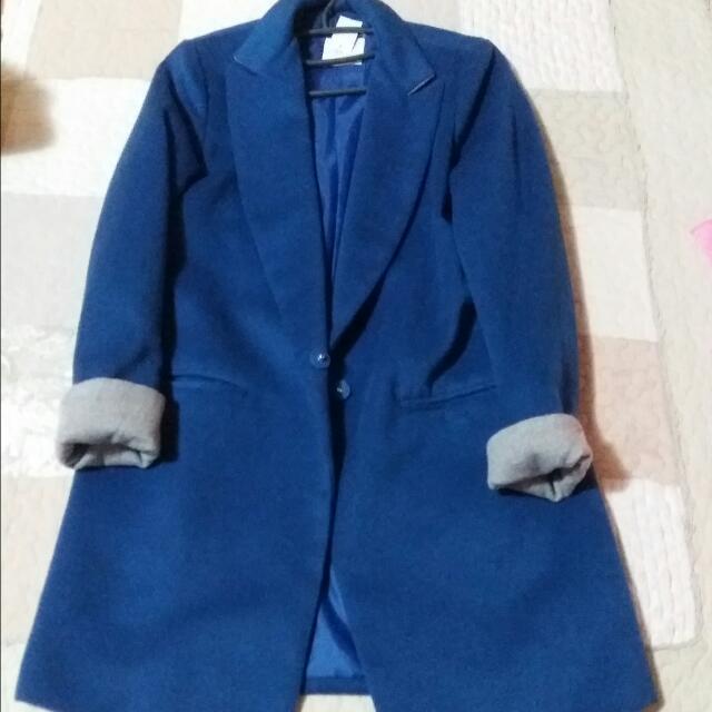 寶藍毛料外套(保留待匯款)