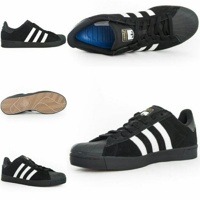 promo code aa7e6 f492a Adidas Superstar Vulc Adv Shoe - Black/White/Black