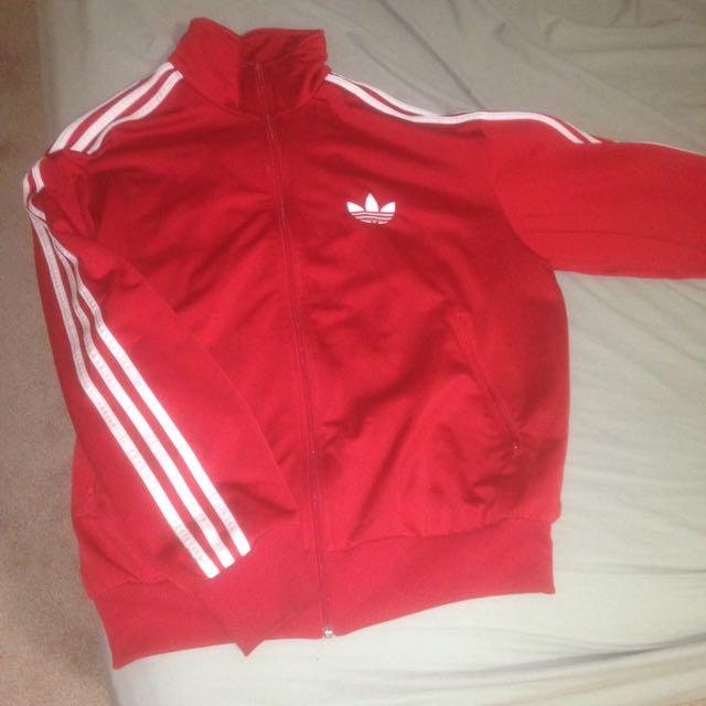 adidas red jacket unisex