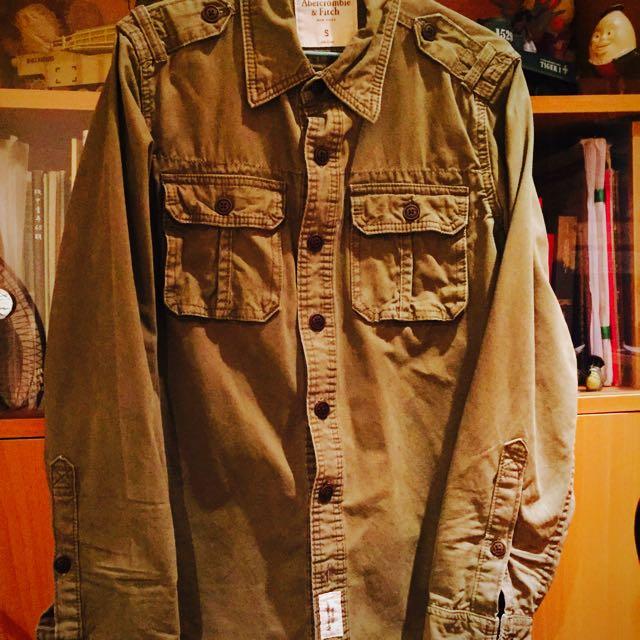A&F 軍裝 軍綠 襯衫 外套