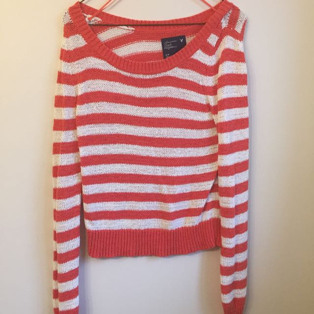 American Eagle Crotchet Sweater