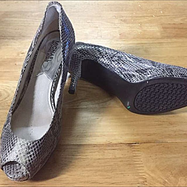Authentic Michael Kors Snake Skin Heels
