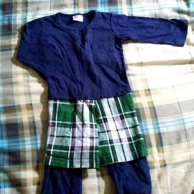 68e817f396b5 save off fc367 e8106 r016 baby romper baju kurung raya navy blue ...