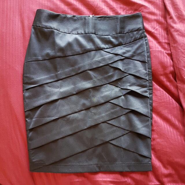 Black Suit Pencil Skirt