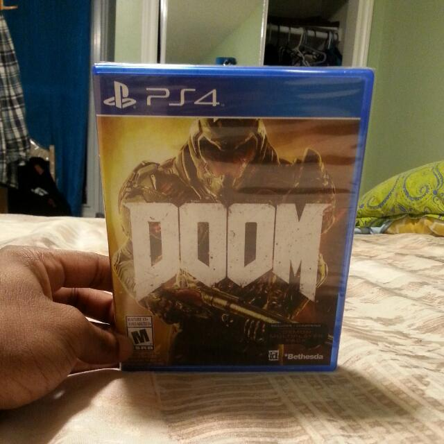 Brand New Doom Ps4 Video Game