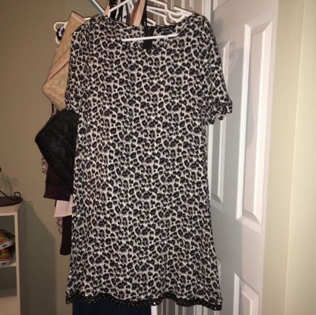 Cheetah Print T Shirt Dress