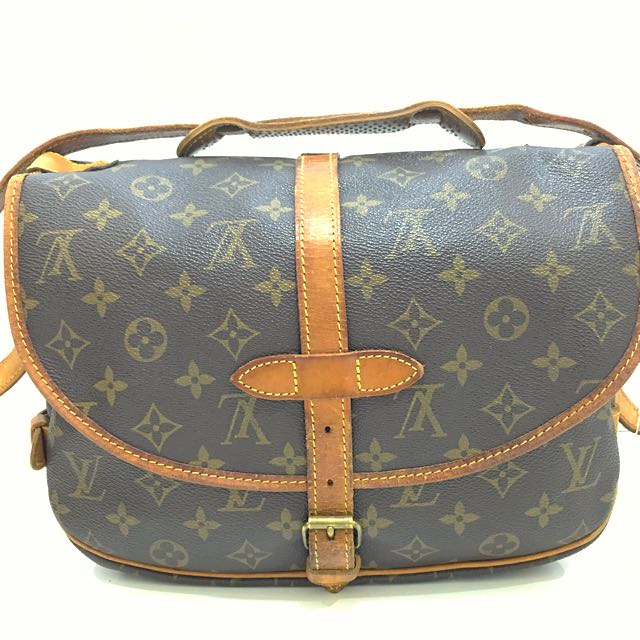 adb4d3145a clearance  💯% Authentic Louis Vuitton LV Saumur 30 Double Sided ...