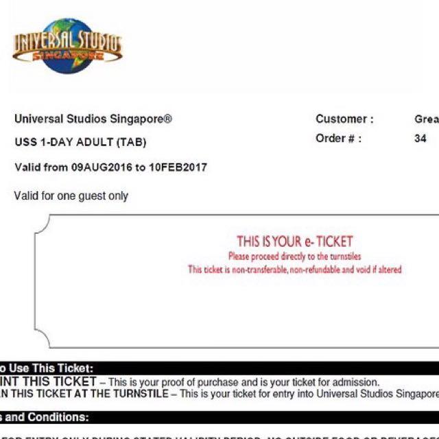 e ticket uss tiket universal studio singapore tickets vouchers rh id carousell com