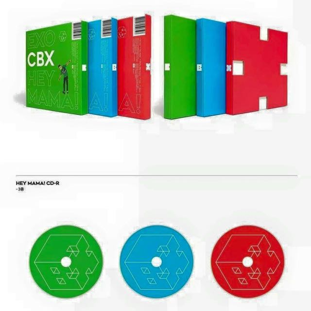 Exo CBX HEY MAMA ALBUM (can choose cover)