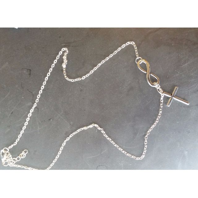 fashion sterling silver Cross Shaped Choker Statement Cross Pendant Necklace (Color: White)