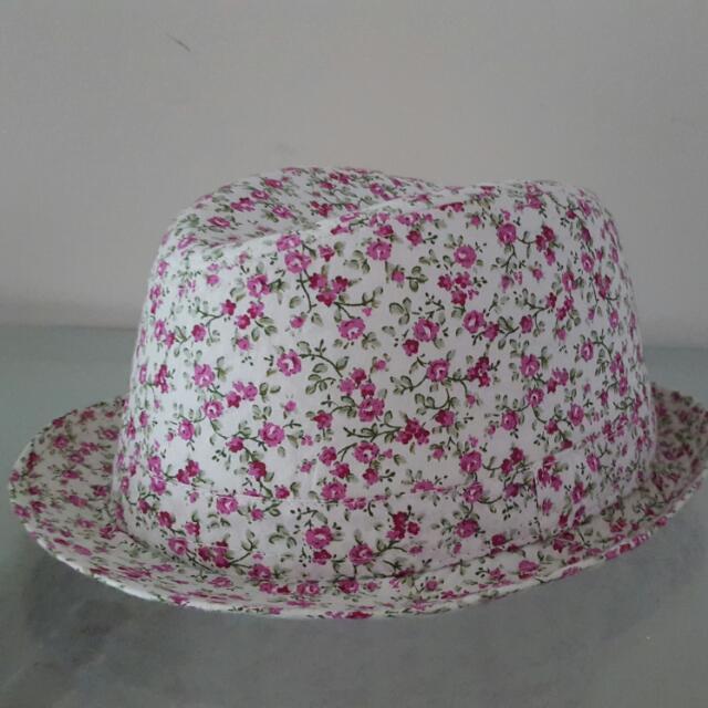 Floral Fedora Hat