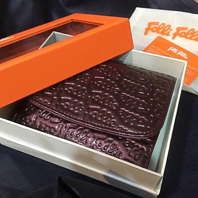 Folli Follie皮夾 漆皮壓紋 紫