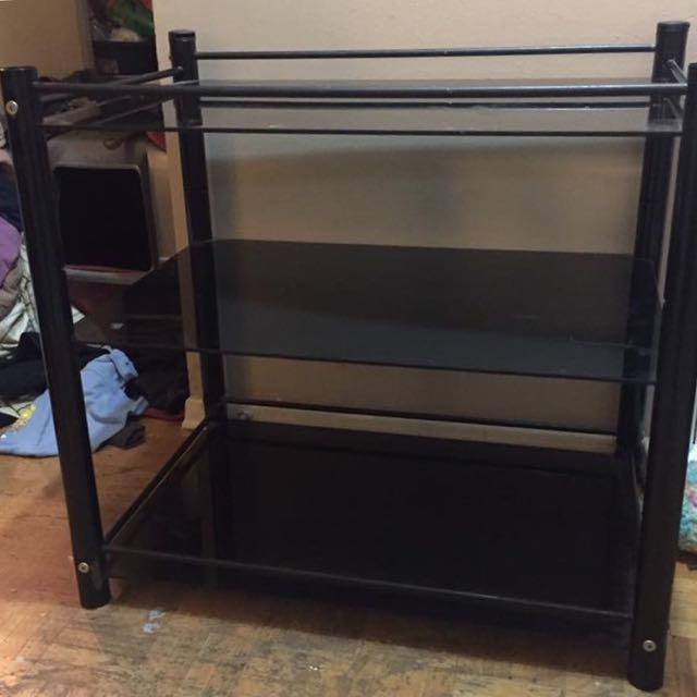 Glass Shelf Cart
