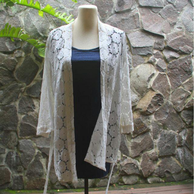 H&M White Kimono