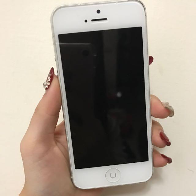 ✨I phone 5   16g  銀✨