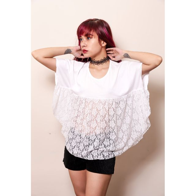 Lacey Bat Wing Top