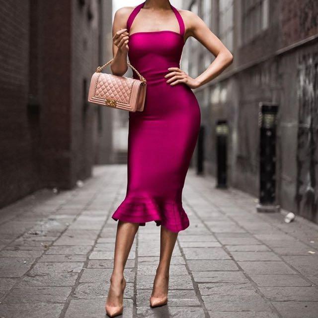 Ladies Bandage Dress Size 6 8 10 Xs S M L