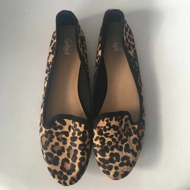 Leopard Pattern Flats Slippers Ballet