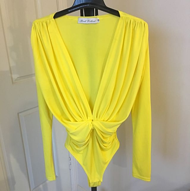 Long Sleeve Yellow Bodysuit