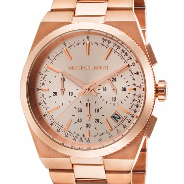 0a539cf93a63 MK5927 - Michael Kors Women s Channing Rose-Gold Stainless-Steel ...
