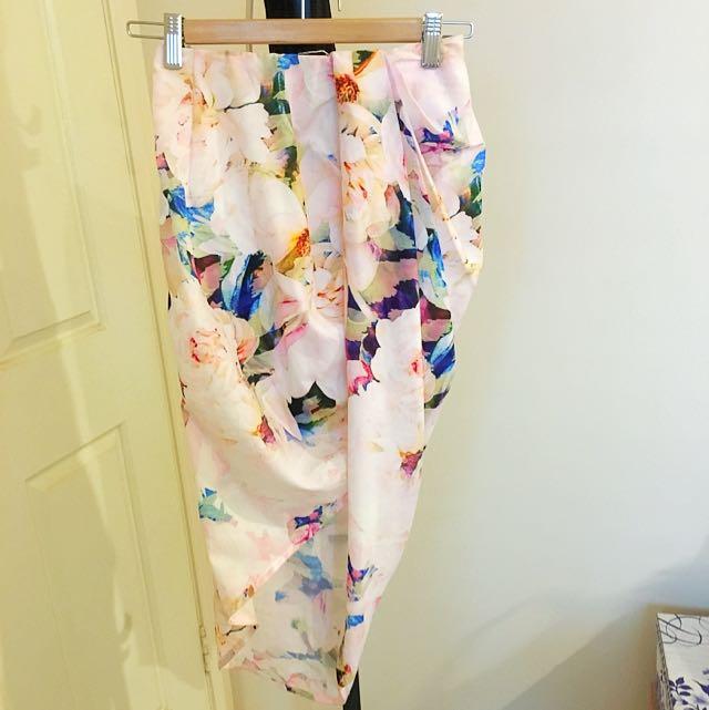 Morning Mist Floral Skirt