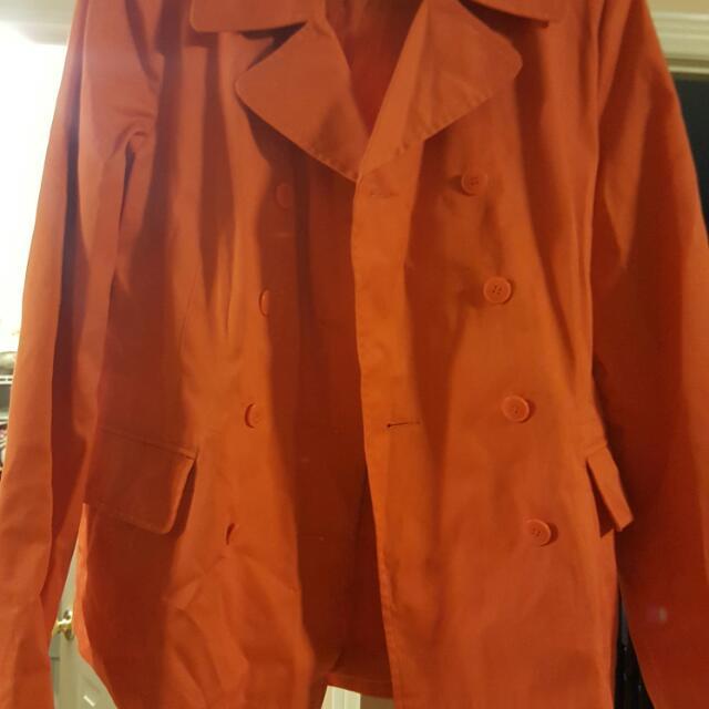 Orange Light Jacket Worn Once