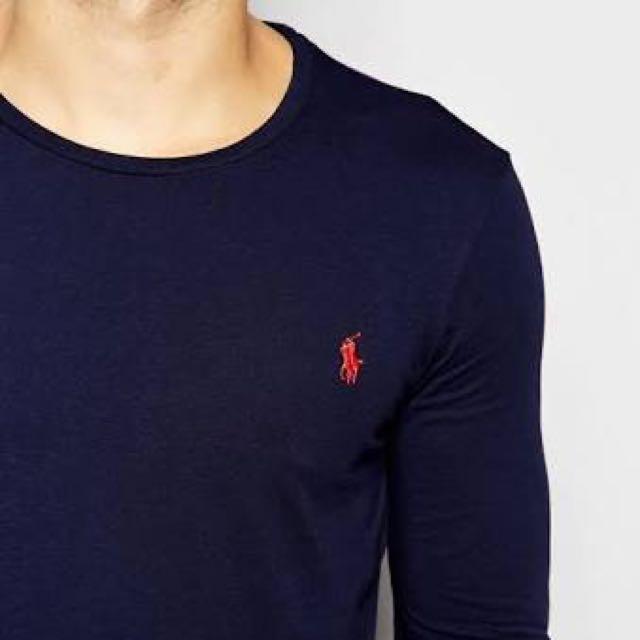 Original Small Navy L/S T Shirt Ralph Lauren