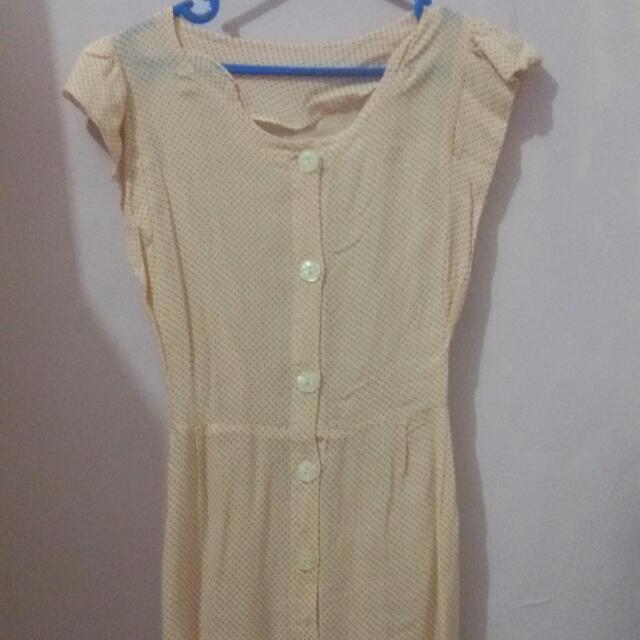 Polkadot Peach Dress
