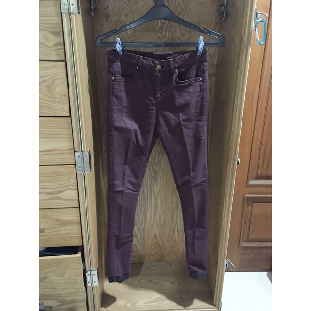 Preloved Topshop MOTO Jeans Maroon