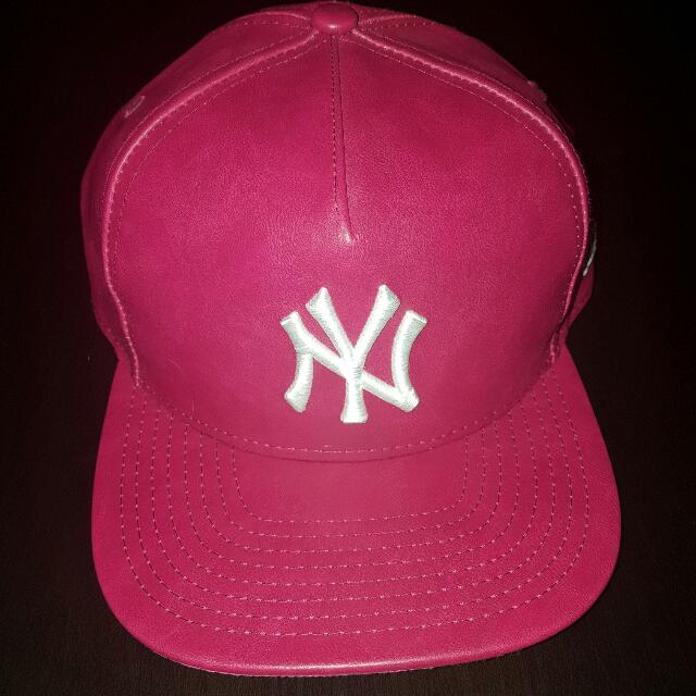 PU leather NY snapback