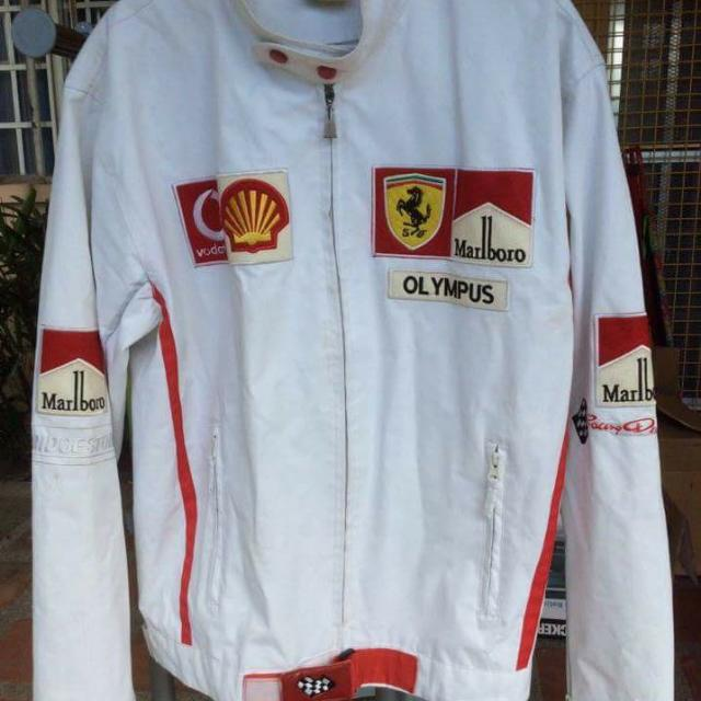 Racer's Leather Ferrari Jacket