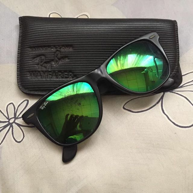 Rayban wayfrer Usa Green lens, Men s Fashion, Accessories on Carousell 189f844299