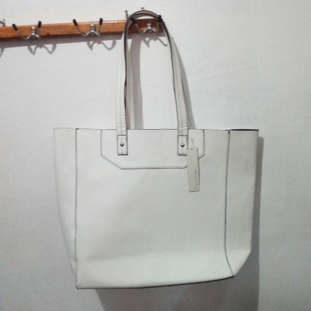REPRICE White Tote Bag