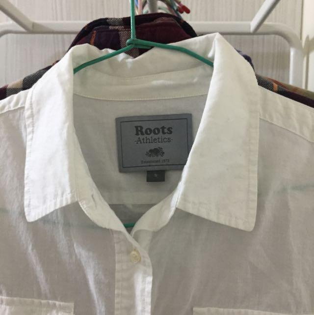 Roots白襯衫