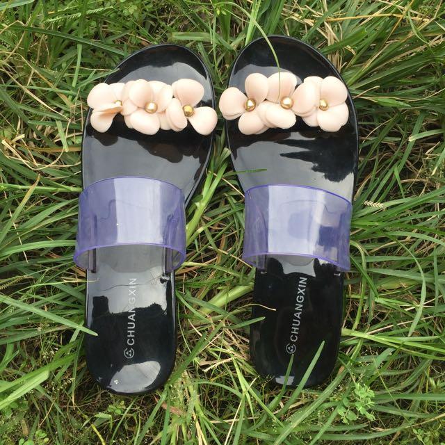 Sandal Sendal Bangkok Bunga Flower