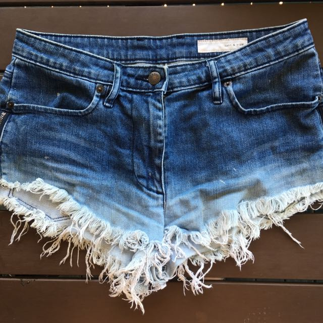Sass And Bide Denim Shorts Size 26