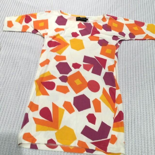 Shakuhachi Coloured Shape Dress Size 8