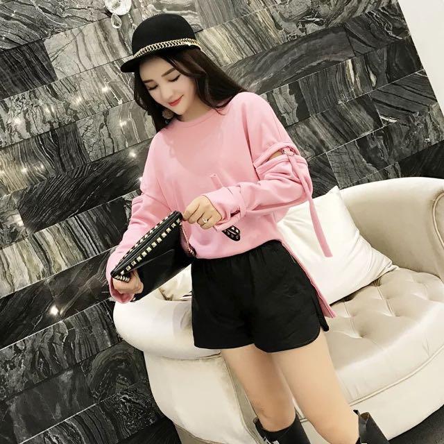 預購💡粉色個性上衣(S/M/L)D181